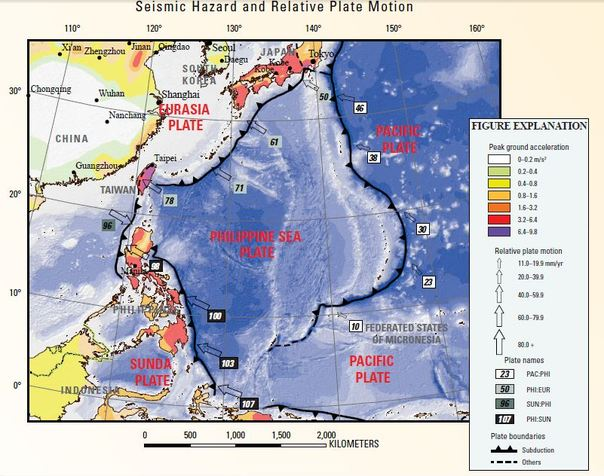 Philippine Sea Plate Tectonics Of Asia - Where is philippines